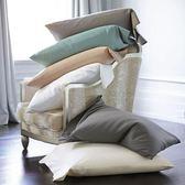 枕套純棉大號成人純色枕巾枕頭套罩全棉