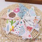 6條裝 嬰幼兒純棉口水巾寶寶針織棉小毛巾手帕印花小方巾-321寶貝屋