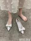 平底單鞋尖頭單鞋女平底2021年春款鞋子低跟蝴蝶結仙女鞋百搭黑色淺口瓢鞋 迷你屋 618狂歡