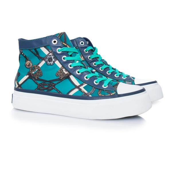 典藏拼馳騁 高筒綁帶帆布鞋