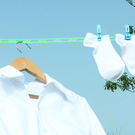 ✭米菈生活館✭【L201-1】防風防滑晾曬繩+8夾 懸掛 衣服 掛衣 旅行 戶外 出差 浴室 室內 陽台 收納