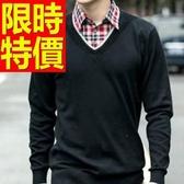 長袖毛衣精美保暖-薄款復古假兩件式男襯衫 3色59ac27【巴黎精品】