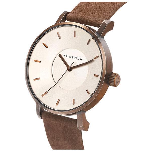 【台南 時代鐘錶 Klasse14】VO18VG001M 復古麂皮三針時尚腕錶 42mm 公司貨保固兩年
