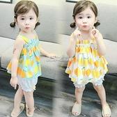 童裝女童夏裝洋氣1吊帶裙子2短褲套裝棉綢3歲4小女孩寶寶夏季衣服 夏沫之戀