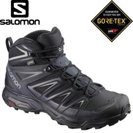 【SALOMON索羅門 男款X ULTRA 3 GORE-TEX中筒登山鞋《黑/灰》】398674/登山鞋/健行鞋★滿額送