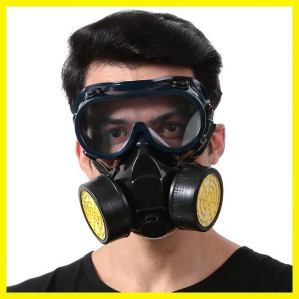 新年鉅惠 強透氣防臭防毒面具 噴漆 防塵 防毒口罩 防護面罩 打農藥