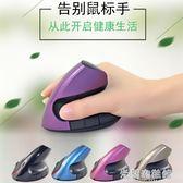 新款二代立式可充電垂直滑鼠 辦公手握防滑鼠手健康光電無線滑鼠 米蘭潮鞋館