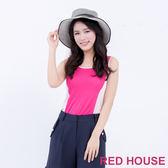 RED HOUSE-蕾赫斯-素面拼色針織背心(共2色)