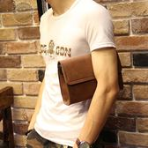 (萬聖節)手拿包瘋馬皮新品正韓男士手包休閒男包手拿包軟皮手抓包夾包男