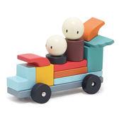 【美國Tender Leaf Toys】賽車手磁力積木(益智磁性積木組合)