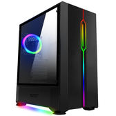 【德隆】aigo 愛國者 T20 黑色 中塔式RGB炫彩電競Dark flash 機殼【刷卡含稅價】