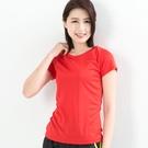 女款排汗T  CoolMax 吸濕快乾 機能涼感 舒適運動 紅色