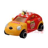 〔小禮堂〕小熊維尼 TOMICA小汽車《橘紅.賽車.DM-18》經典造型值得收藏4904810-48385