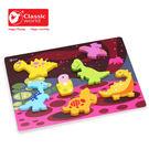 【德國 classic world】客來喜木頭玩具 3D 恐龍拼圖 CL3552