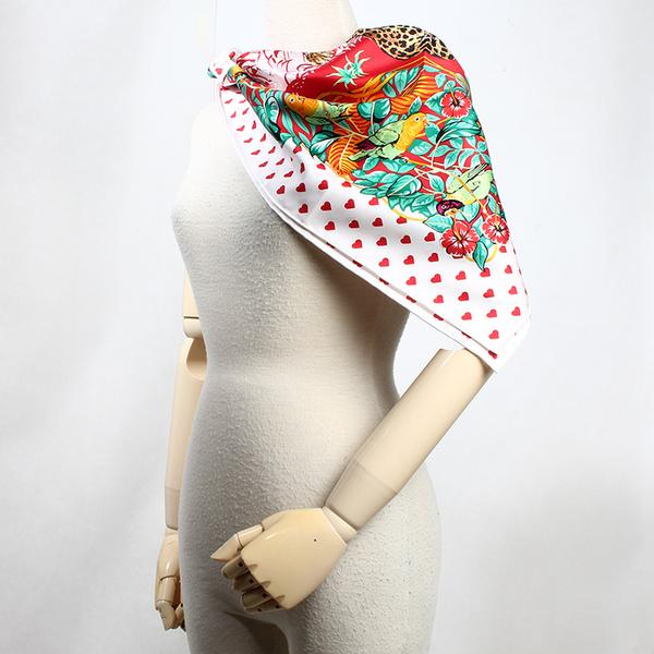 HERMES 情人節限定叢林之愛披肩方形絲巾179289