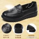 平底皮鞋 秋冬款媽媽鞋真皮軟底舒適工作皮鞋女中老年加絨單鞋防滑平底大碼 快速出貨