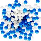 台灣製~藍白海洋色系遊戲彩球 ~100球賣場~安全無毒遊戲球(球屋、球池專用)~幼之圓