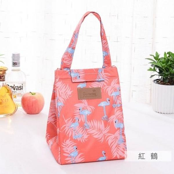 麋貳屋 造型時尚手提野餐袋-紅鶴