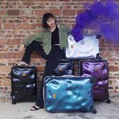行李箱 復古鋁框行李箱萬向輪24寸韓版登機箱28破損旅行箱男20寸拉桿箱女 俏女孩