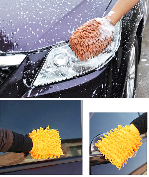 [BWS拍賣] 雙面洗車手套 珊瑚蟲洗車擦車手套 六色