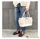 帆布手提包時尚日本包帆布包女斜挎大容量手提托特包【小獅子】