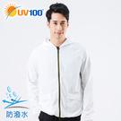 UV100 防曬 抗UV-防潑水輕量連帽外套-男