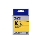 EPSON LK-5YBP 原廠標籤帶 (粉彩18mm )黃黑 C53S655404