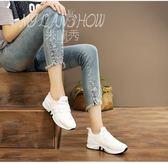 透氣運動鞋 秋季新款跑步鞋 韓版休閒小白鞋