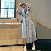 胖妹妹春夏新款2019大碼網紗拼接連身裙減齡遮肉中長款仙女打底裙 韓流時裳