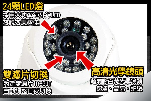 【台灣安防】監視器 高解析1000條 防水 陣列LED 攝影機 鏡頭 紅外線攝影機 戶外型 DVR