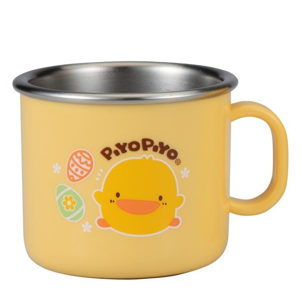 台灣製黃色小鴨SUS304不鏽鋼隔熱大單耳杯180ml/小水杯~兒童304不鏽鋼杯水杯/幼稚園水杯