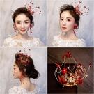 限定款光彩照人紅色活潑俏麗小皇冠 羅門影樓新娘造型紅裝頭飾髮飾品154707