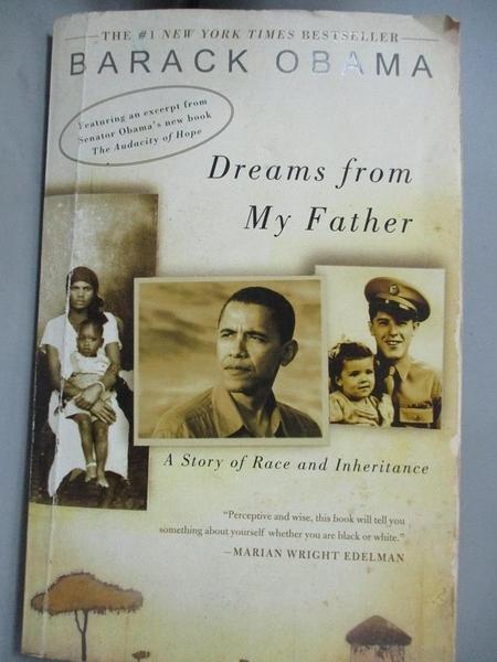 【書寶二手書T1/原文書_LGX】Dreams From My Father-A Story Of Race And Inheritance_Barack, Obama, 歐巴馬