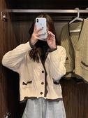 針織開衫秋冬2021年新款毛衣女日繫古著慵懶風秋裝復古針織衫開衫外套上衣 韓國時尚