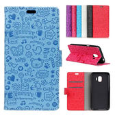 HTC Desire 12 Desire 12+ 小魔女壓花系列 手機皮套 皮套 插卡 支架 皮套
