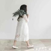 女童洋裝洋氣夏裝新款中大童超仙蕾絲裙網紅兒童禮服公主裙「錢夫人小鋪」