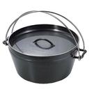 『VENUM旗艦店』日本 UNIFLAME DUTCH OVEN 660973 黑皮荷蘭鍋 鑄鐵鍋 10吋