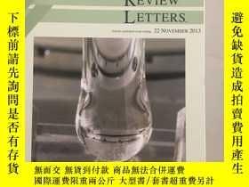 二手書博民逛書店PHYSICAL罕見REVIEW LETTERS Articles published week ending 2