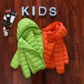 萬聖節狂歡   兒童輕薄羽絨服連帽短款冬新款男童女童寶寶小孩中大童超反季外套  mandyc衣間