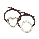 韓版簡約風珍珠造型髮束(1入) 款式可選  顏色隨機出貨 【小三美日】 髮飾