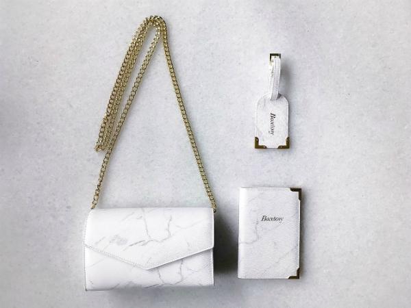 Boxtory 大理石鍊包 - 白色
