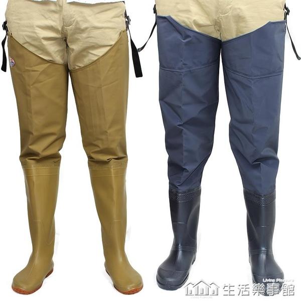 加厚插秧鞋半身過膝男女下水褲 大碼超高筒防水捕魚釣魚抓魚褲 生活樂事館