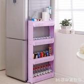 可移動置物架 廚房夾縫冰箱縫隙收納架落地可移動窄式衛生間浴室整理架LB18134【3C環球數位館】
