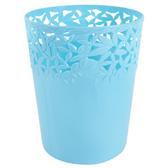 桂冠垃圾桶10L-藍