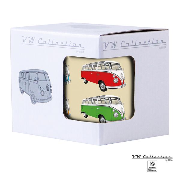 VW Brisa老福斯-T1 Bus 琺瑯馬克杯-多色/米黃