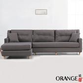【采桔家居】道頓 時尚灰棉麻布L型獨立筒沙發組合(左&右二向可選)