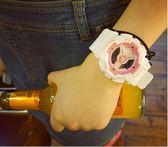 韓版復古風情侶電子表學生男女日系原宿潮運動糖果色日韓時尚手錶 夏洛特居家