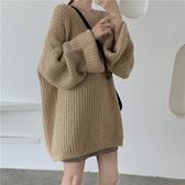 毛衣ins女森系慵懶風秋冬新款寬鬆時尚外穿中長款套頭毛線衣 雅楓居