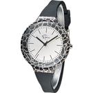 Epico 圓形系列長頸紋潮流腕錶 EP-2GRBKS