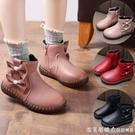 女童馬丁靴寶寶軟底2020秋冬新款單靴英倫風短靴保暖皮靴兒童靴子 美眉新品